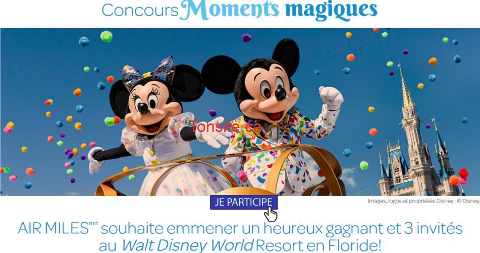 disney concours2 - Concours Air Miles: Gagnez des vacances pour 4 personnes au Walt Disney World Resort en Floride !