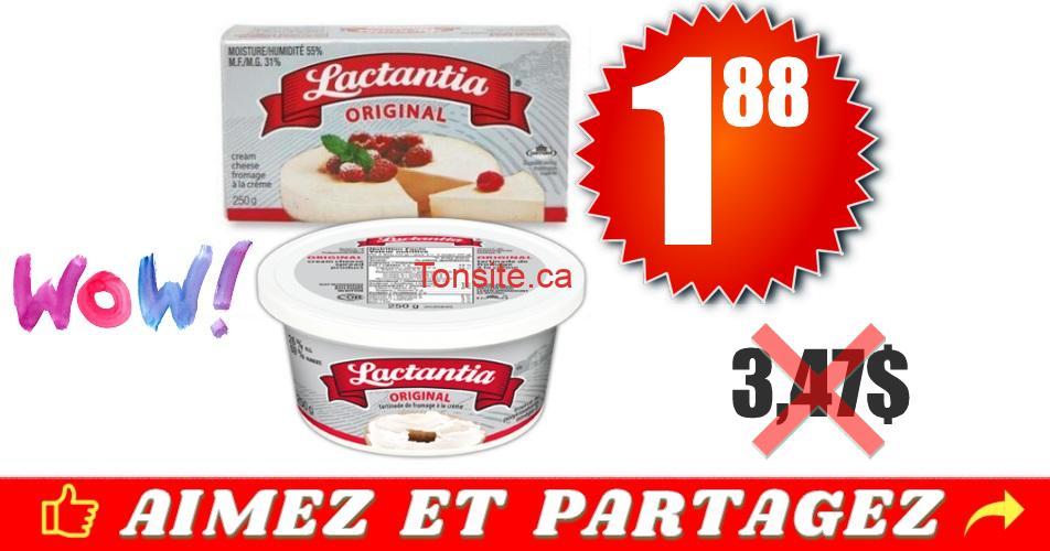 fromage lactantia 188 347 - Fromage à la crème Lactantia Original à 1.88$ au lieu de 3,47$