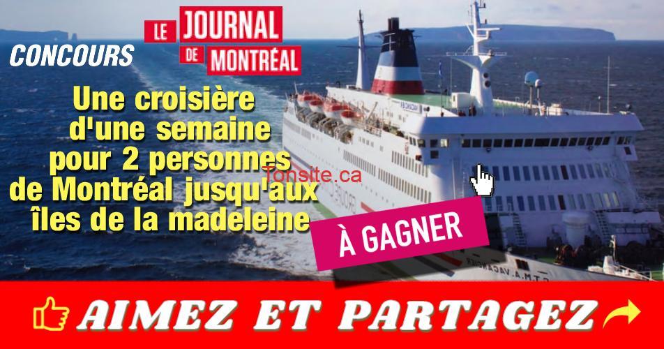 iles de la madeleine concours3 - Concours Le Journal de Montrèal: Gagnez une croisière d'une semaine pour 2 personnes aux îles de la madeleine