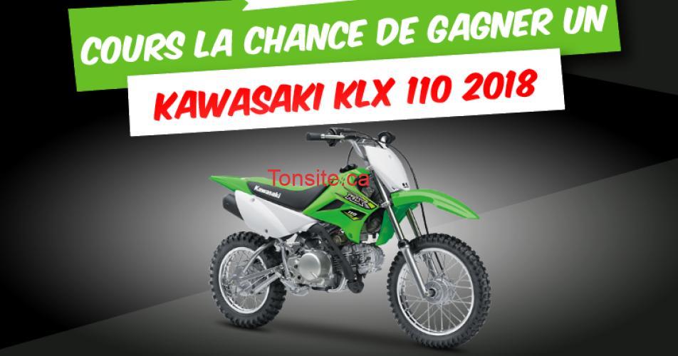 kawasaki concours - Gagnez un Kawasaki KLX 110 2018, d'une valeur de 3 300$