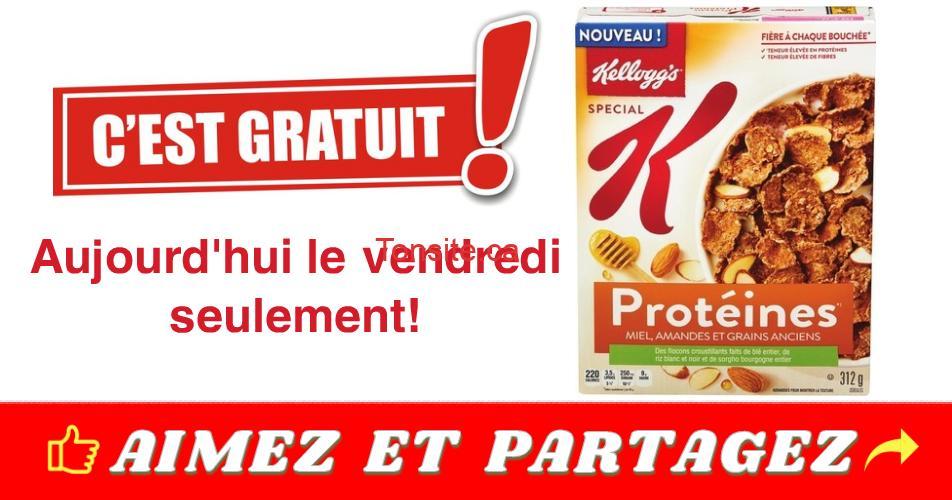kelloggs proteines gratuit - GRATUIT : Obtenez une boîte de céréales Special K Protéines Kellogg's