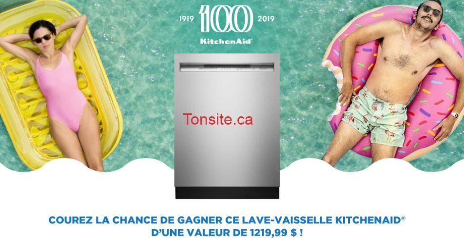kitchen aid lave vaisselle concours - Gagnez un lave-vaisselle KitchenAid d'une valeur de 1219,99 $