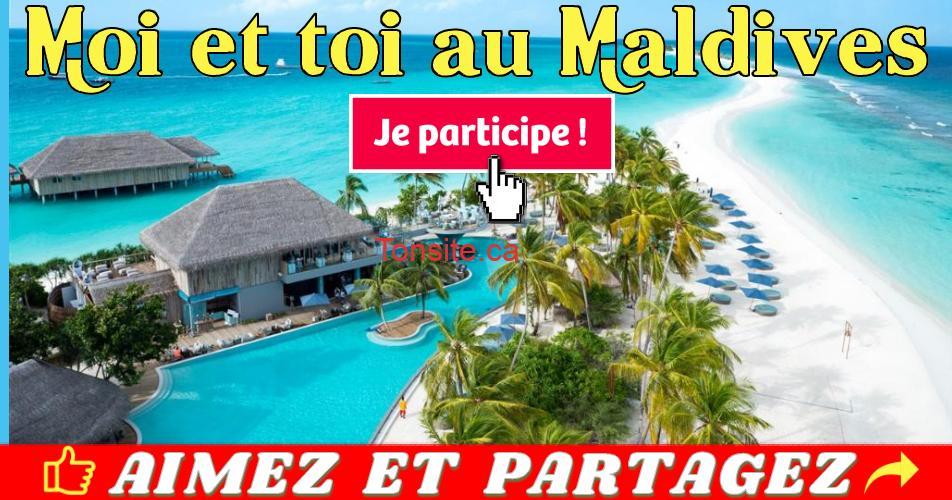 maldives concours - Gagnez un forfait de luxe de 5 nuits pour 2 personnes aux Maldives + 1000$ en espèces