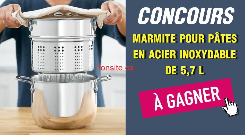 marmite concours - Gagnez une marmite pour pâtes ALL-CLAD en acier inoxydable de 6 pintes
