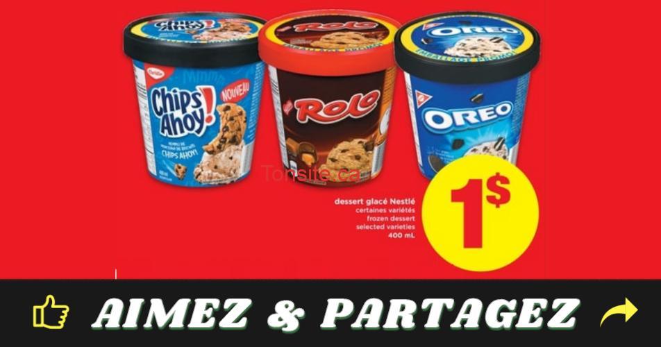 nestle creme glacee 1 off - Crème glacée Nestlé à 1$ seulement !