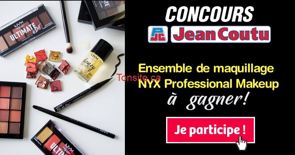 nyx jeancoutu concours - Concours Jean Coutu: Gagnez cet ensemble de maquillage NYX Professional Makeup