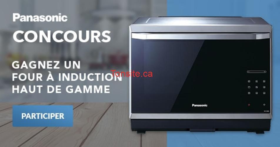 panasonic four concours - Gagnez un four Panasonic à induction haut de gamme (valeur de 1099$)