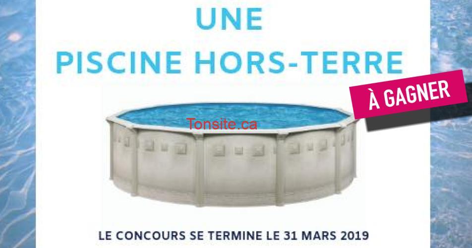 piscine concours - Concours: Gagner une piscine hors-terre installée!