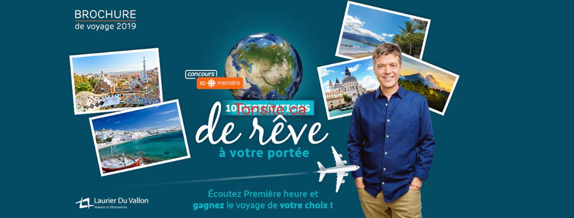 radio canada concours10 - Concours Radio Canada: Gagnez un crédit-voyage de 8000 $ échangeable contre un forfait voyage