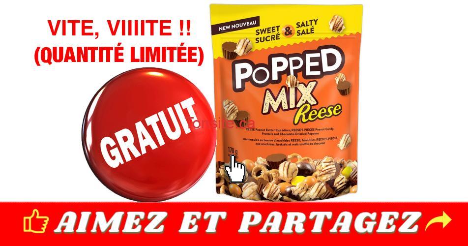 reese gratuit - GRATUIT: Obtenez un sac de collations Reese Popped Mix GRATUIT !