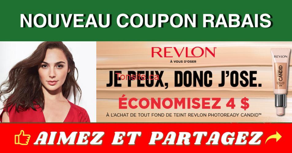 revlon04 - Coupon rabais de 4$ sur tout fond de teint Revlon Photoready Candid
