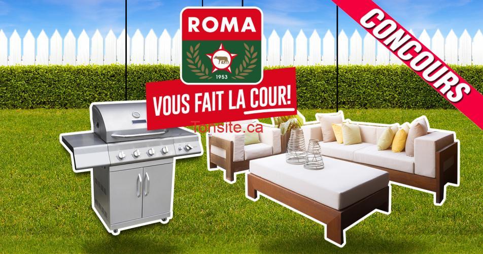 roma concours - Gagnez un ensemble de jardin et un BBQ (valeur de 5000$)