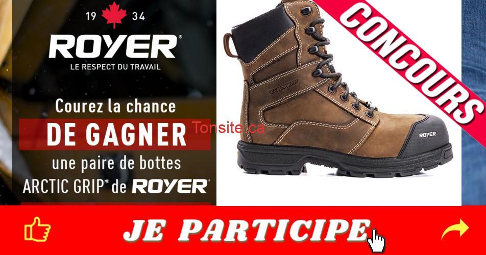 royer concours2 - Gagnez une paire de bottes Arctic Grip de Royer
