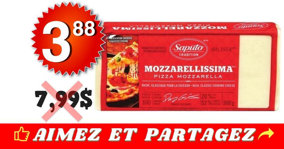 saputo 388 799 1 - Barre de fromage Mozzarellissima Saputo (500 g) à 3,88$ au lieu de 7,99$