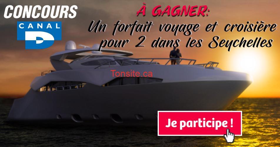 seychelles concours - Concours Canal D: Gagnez un forfait voyage et croisière pour deux personnes dans les Seychelles (valeur + de 15 000$)