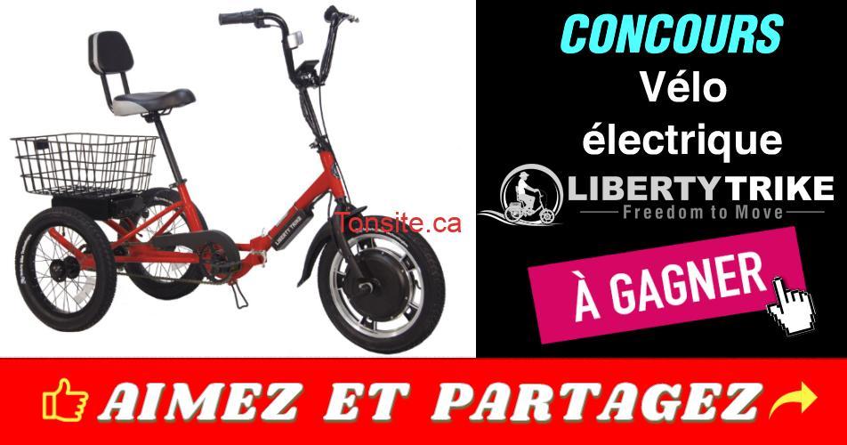 velo electrique concours - Gagnez un vélo électrique d'une valeur de 1498$
