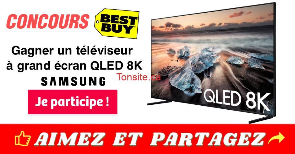 best buy concours1 - Gagner un téléviseur à grand écran QLED 8K de Samsung offert par Best Buy