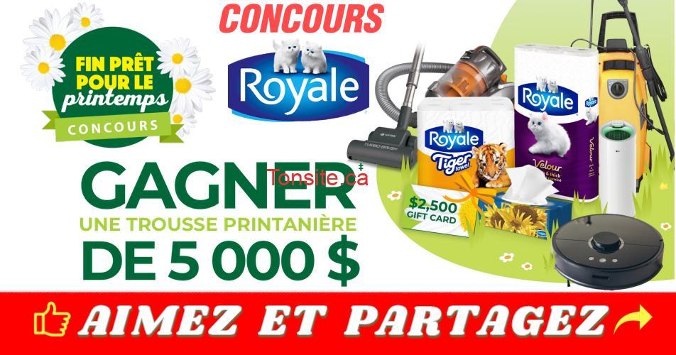 concours royale printemps - Concours Royale: Gagnez une carte-cadeau de 2500$, un approvisionnement d'un an en produits ROYALE et des articles de nettoyage du printemps