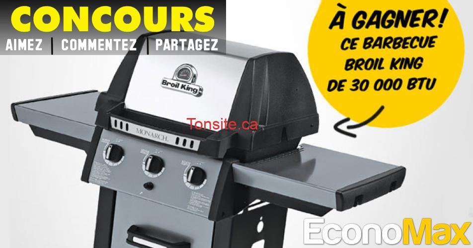 economax concours25 - Concours Economax: Gagnez un barbecue Broil King de 30 000 BTU