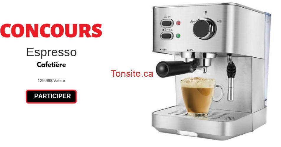 espresso concours - Participez et gagner une Machine à Espresso