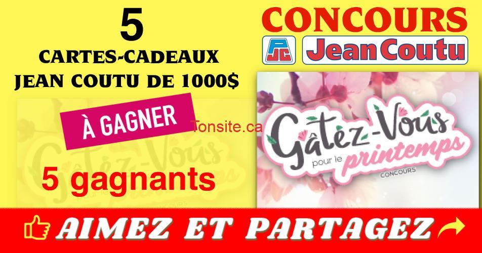jean coutu concours printemps - Concours Printemps Jean Coutu: Gagnez 1 des 5 cartes-cadeaux Jean Coutu de 1000$
