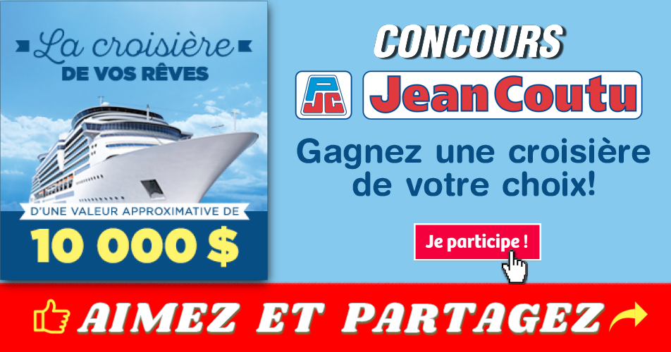 jean coutu concours12 - Concours Jean Coutu: Gagnez un crédit-voyage d'une valeur de 10 000 $ pour une croisière de votre choix