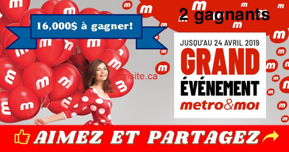 metro concours 1million - Participez et Gagnez 8000$ en cartes-cadeaux Metro (2 gagnants)