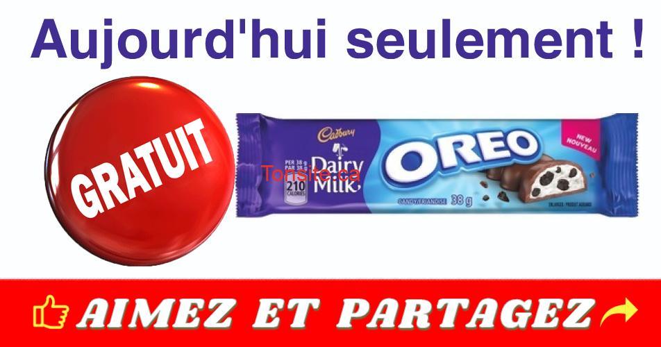 oreo gratuit - GRATUIT : Obtenez une friandise chocolatée Dairy Milk Oreo gratuitement !