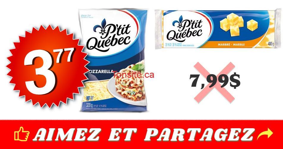 ptit qc 377 799 2 - Fromage râpé ou en bloc P'tit Québec à 3,77$ au lieu de 7,99$
