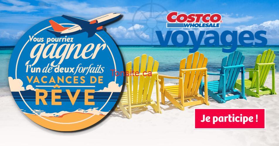 costco voyages concours - Concours Costco: Gagnez 1 de 2 forfaits vacances de rêve (valeur de 10,000$ chacun)