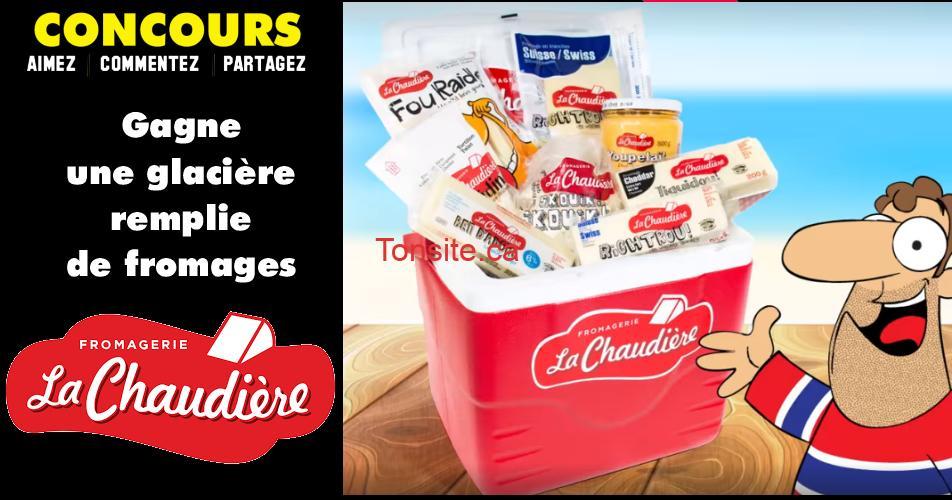 glaciere lachaudiere concours - Participez et gagnez une glacière remplie de fromages La Chaudière