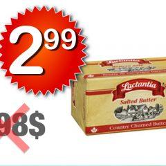 lactantia 299 598 1 240x240 - Beurre Lactantia à 2,99$ au lieu de 5,98$ (sans coupon)