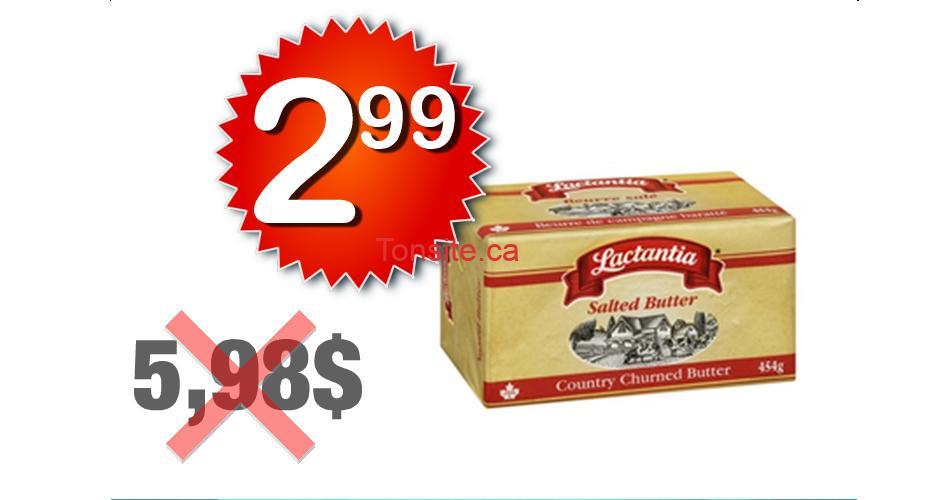 lactantia 299 598 1 - Beurre Lactantia à 2,99$ au lieu de 5,98$ (sans coupon)