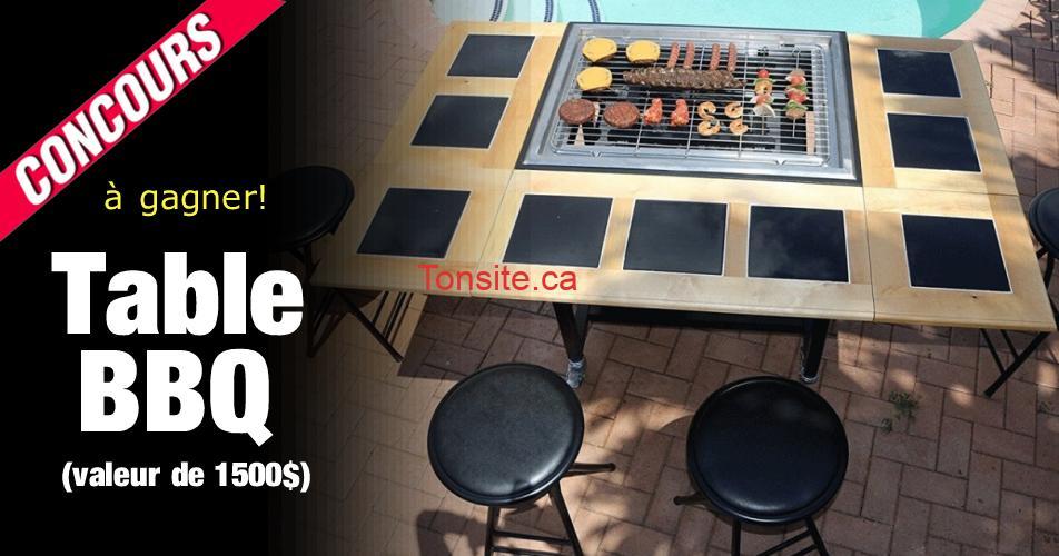table bbq - Gagner une magnifique table bbq d'une valeur de 1500$