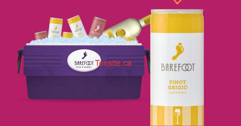 barefoot g - Participez et gagnez une glacière et des produits Barefoot