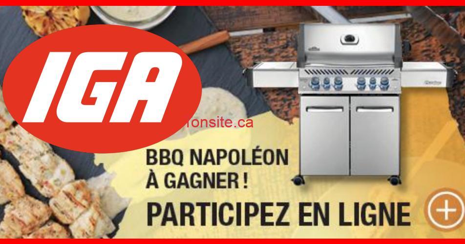 bbq iga - Concours IGA: Gagnez un barbecue Napoléon (valeur de 1800$)