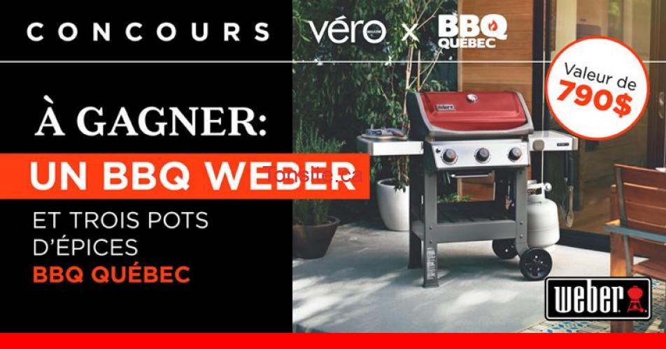 bbq weber - Gagnez un barbecue Weber d'une valeur de 790$