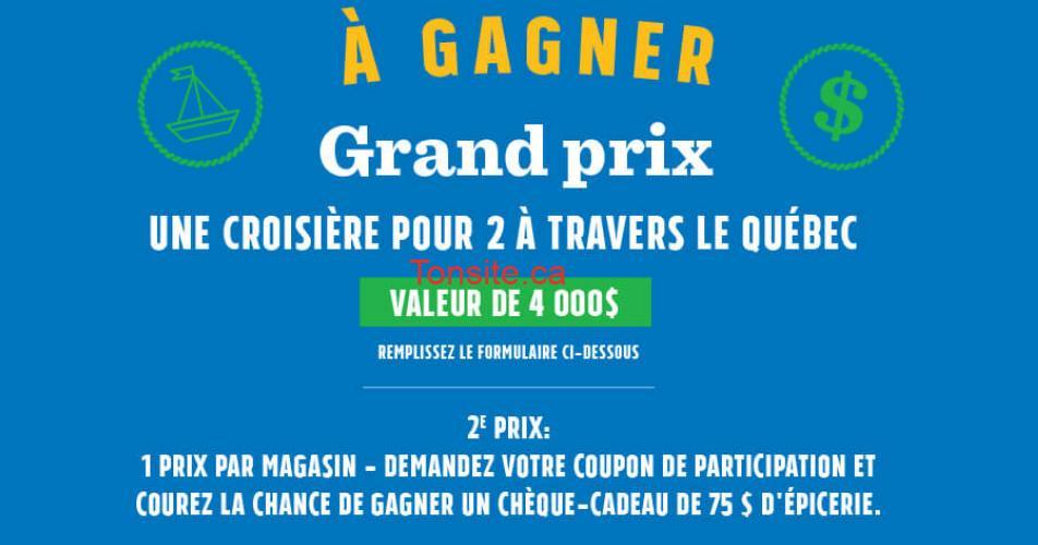 croisière concours - Gagnez une croisière pour 2 à travers le Québec (valeur de 4000$)