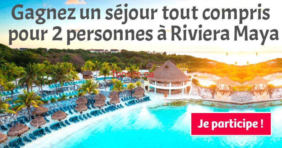 riviera maya concours8 - Gagnez un séjour tout compris  pour 2 personnes à Riviera Maya
