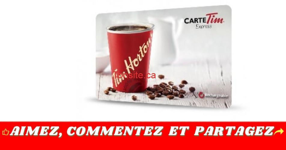 Carte Cadeau Tim Horton.Participez Et Gagnez Une Carte Cadeau Tim Hortons De 50