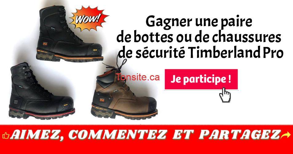 timberland pro concours - Gagner une paire de bottes ou de chaussures de sécurité Timberland Pro