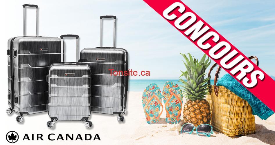 valises concours - Gagnez un ensemble de 3 valises à roulettes Air Canada