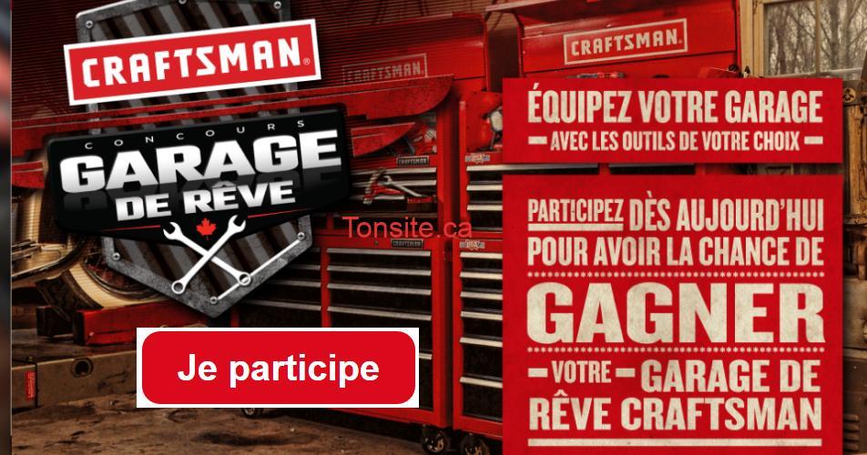 craftsman garage concours - Gagnez votre garage de rêve Craftsman (valeur de 8184$)