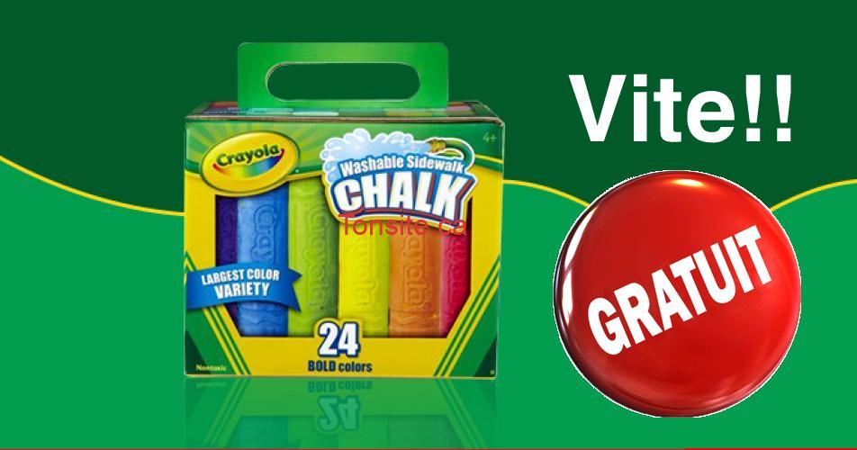 crayola gratuit - Obtenez un paquet de craie Crayola GRATUIT