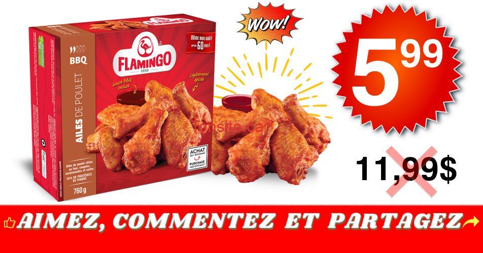 flamingo ailes 599 1199 - Ailes de poulet Flamingo à 5,99$ au lieu de 11,99$