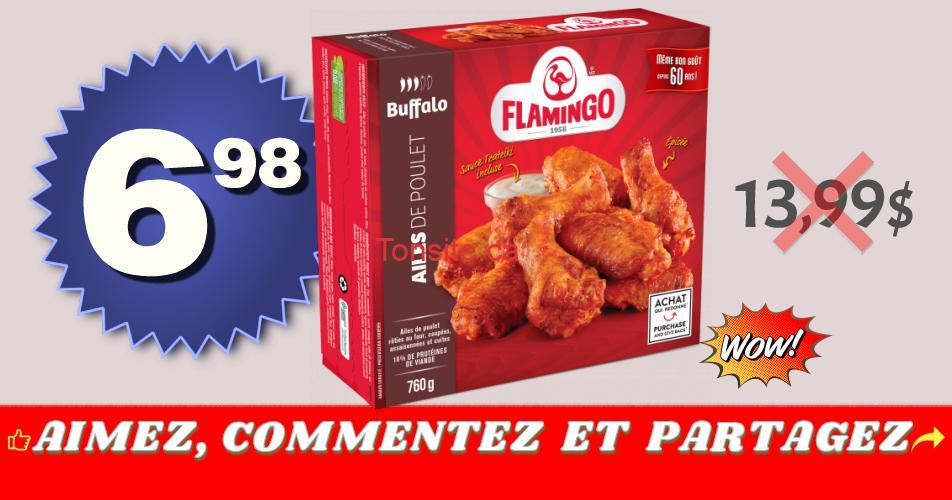 flamingo ailes 698 1399 - Emballage d'ailes de poulet Flamingo à 6,98$ au lieu de 13,99$
