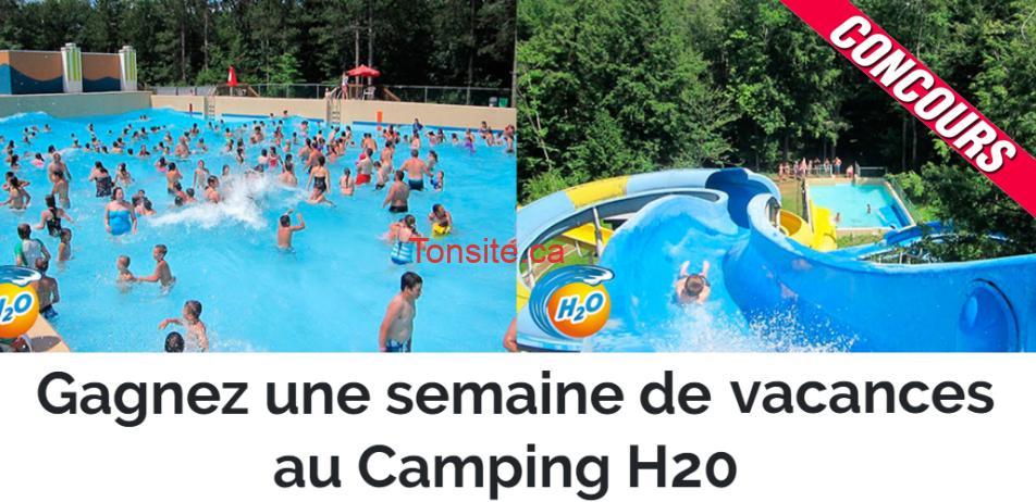 h2o concours - Gagnez une semaine de vacances en famille au Camping H2O
