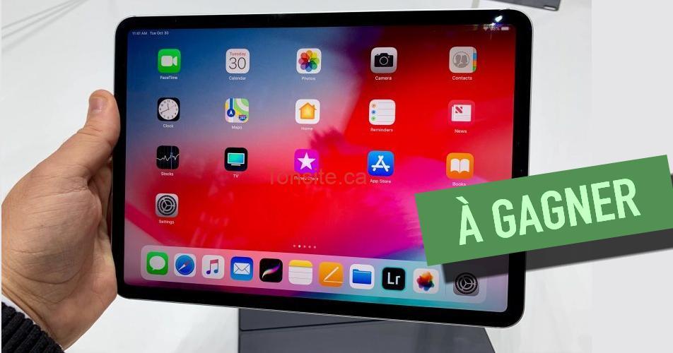 ipad 11 concours - Participez et gagnez un iPad Pro 11po de 799$