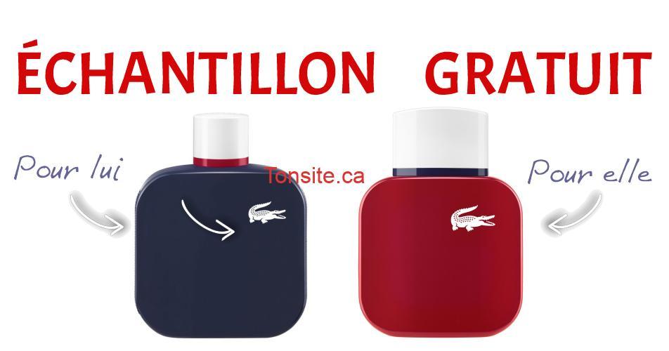 lacoste echantillon - Échantillon gratuit du nouveau parfum French Panache de Lacoste