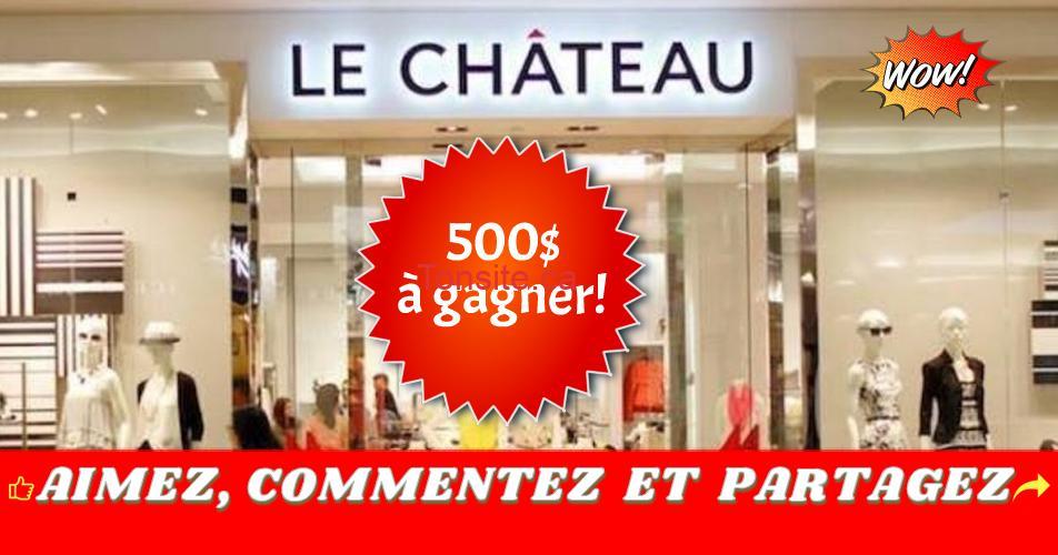 lechateau concours 500 - Gagnez une carte-cadeau Le Château de 500$